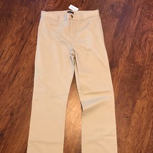 Children's Place flat front khakis NWT